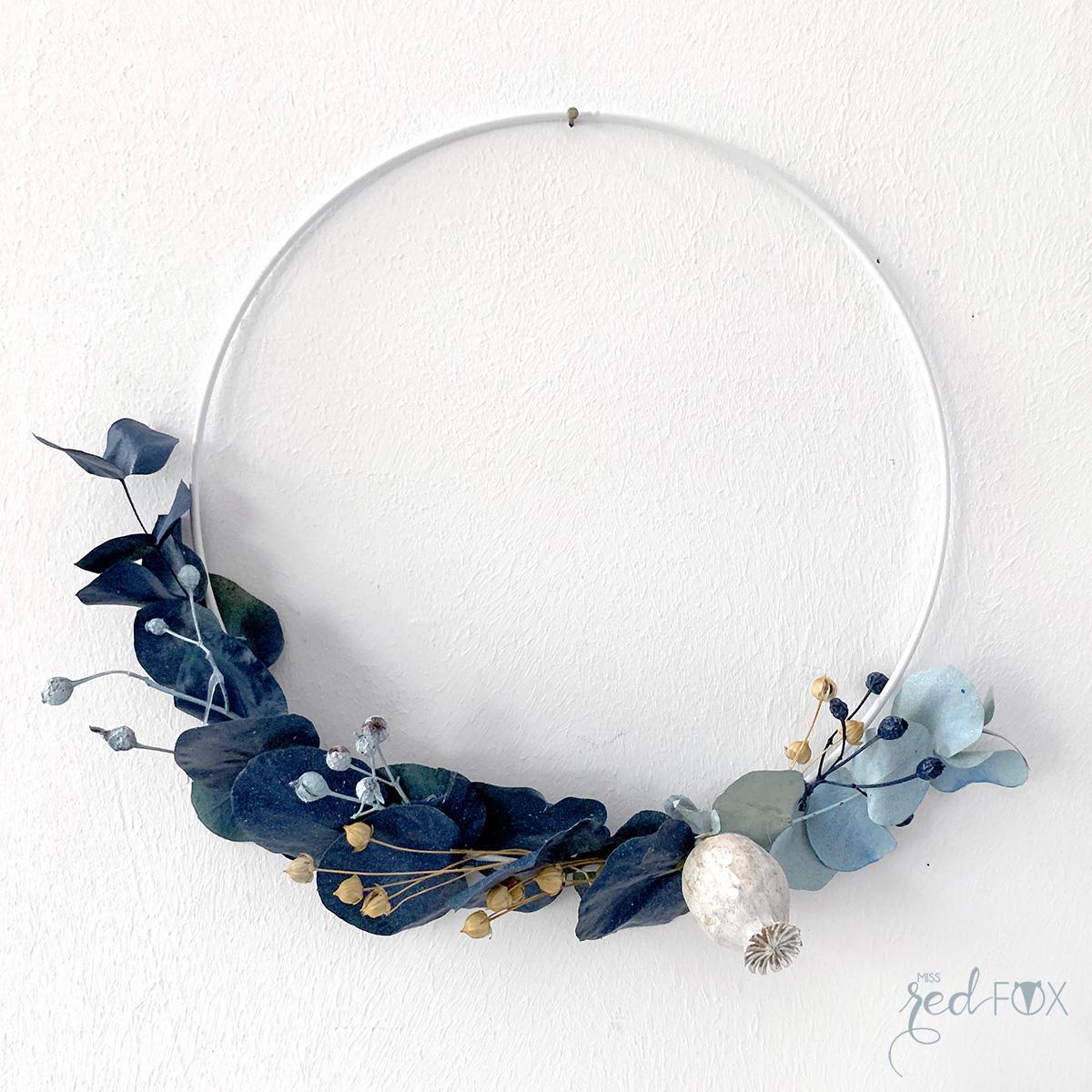 missredfox - 12giftswithlove 10 - Kranz aus trockenen Blumen - 06