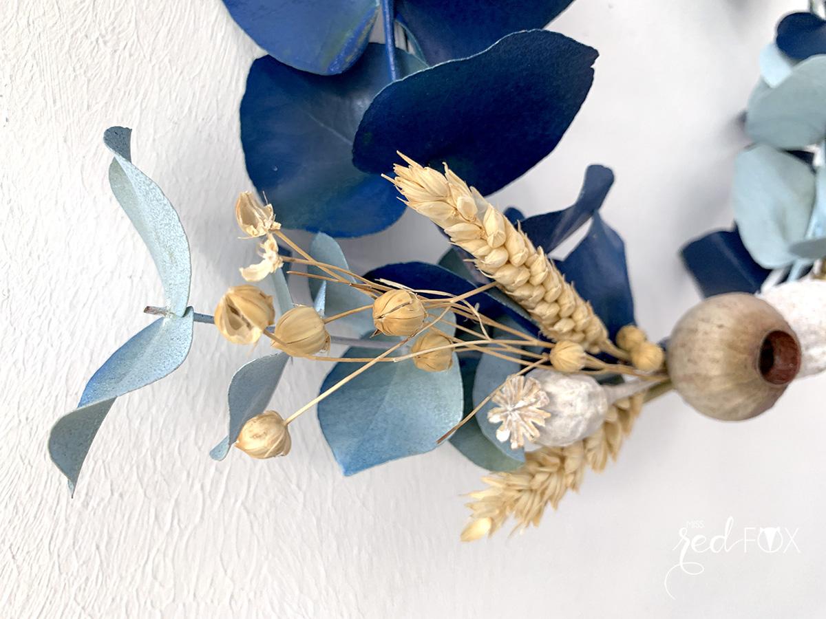 missredfox - 12giftswithlove 10 - Kranz aus trockenen Blumen - 10