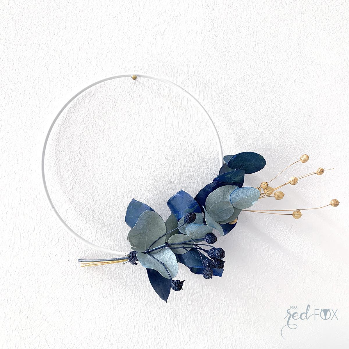 missredfox - 12giftswithlove 10 - Kranz aus trockenen Blumen - 13