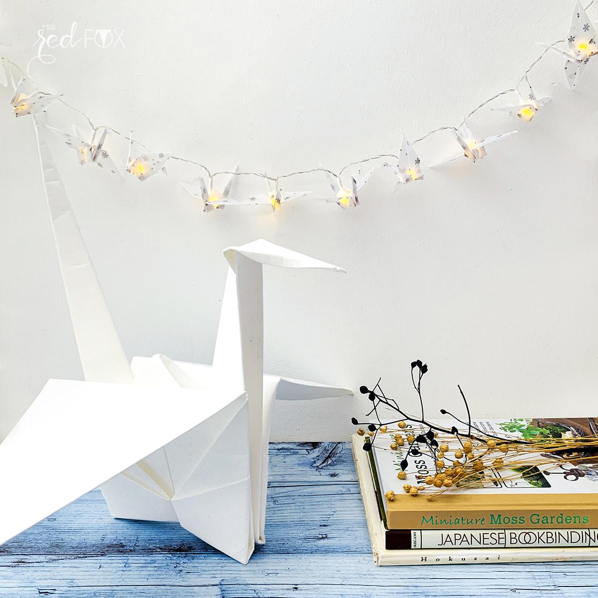 missredfox - 12giftswithlove - Licht - Origami Kraniche Lichterkette - 07