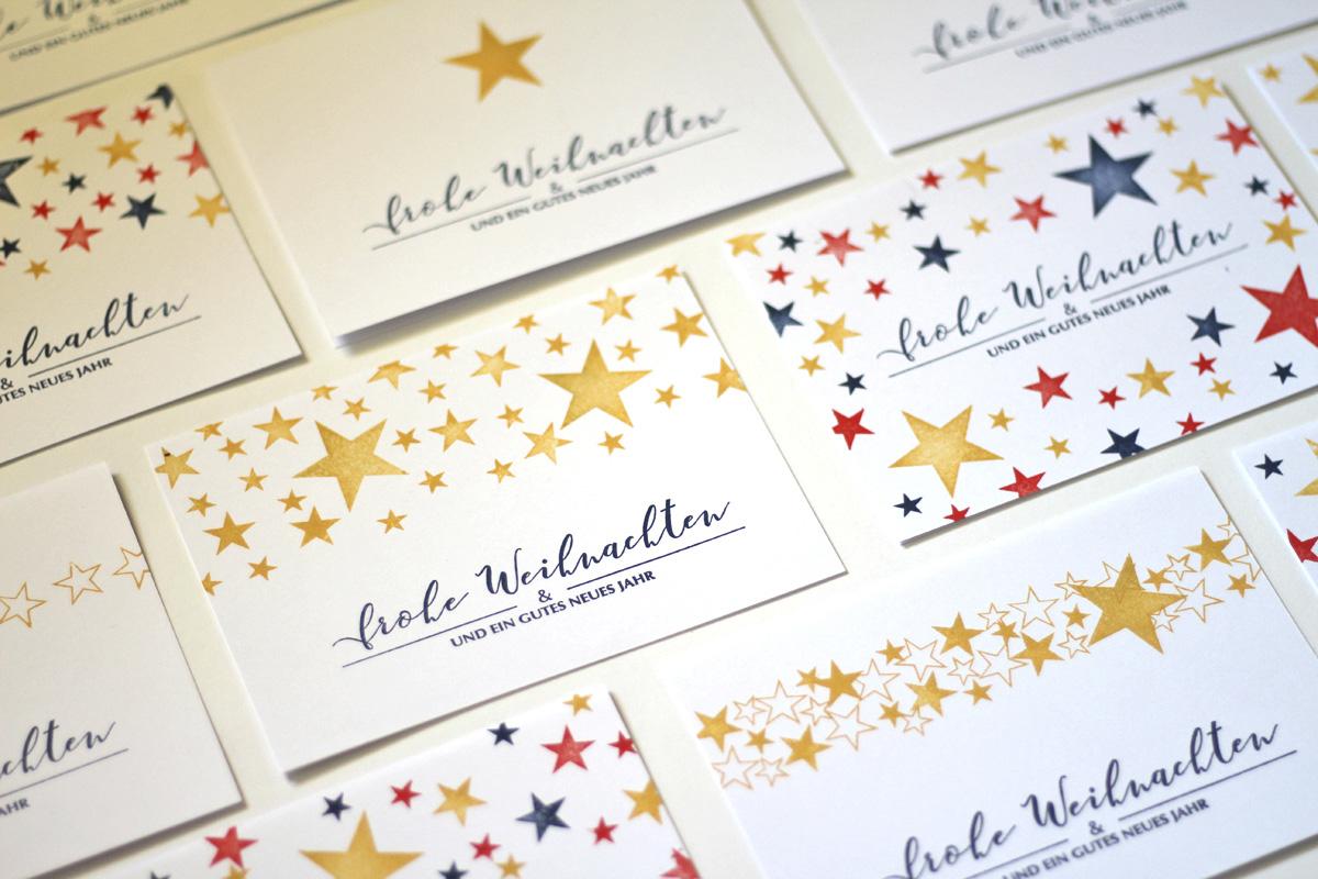 missredfox - 12giftswithlovegoesxmas - 13 - 4Freizeiten - Weihnachtskarten stempeln mit Sternen 2