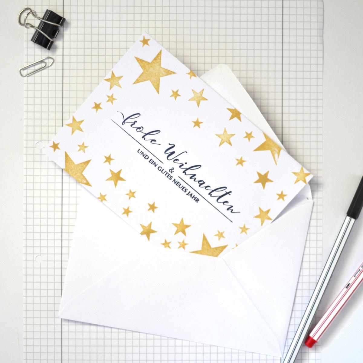 missredfox - 12giftswithlovegoesxmas - 13 - 4Freizeiten - Weihnachtskarten stempeln mit Sternen 3