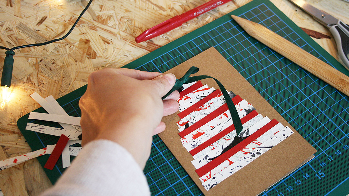 missredfox - 12giftswithlovegoesxmas - 2 Indigo Craftroom - diy marbled xmas cards 2