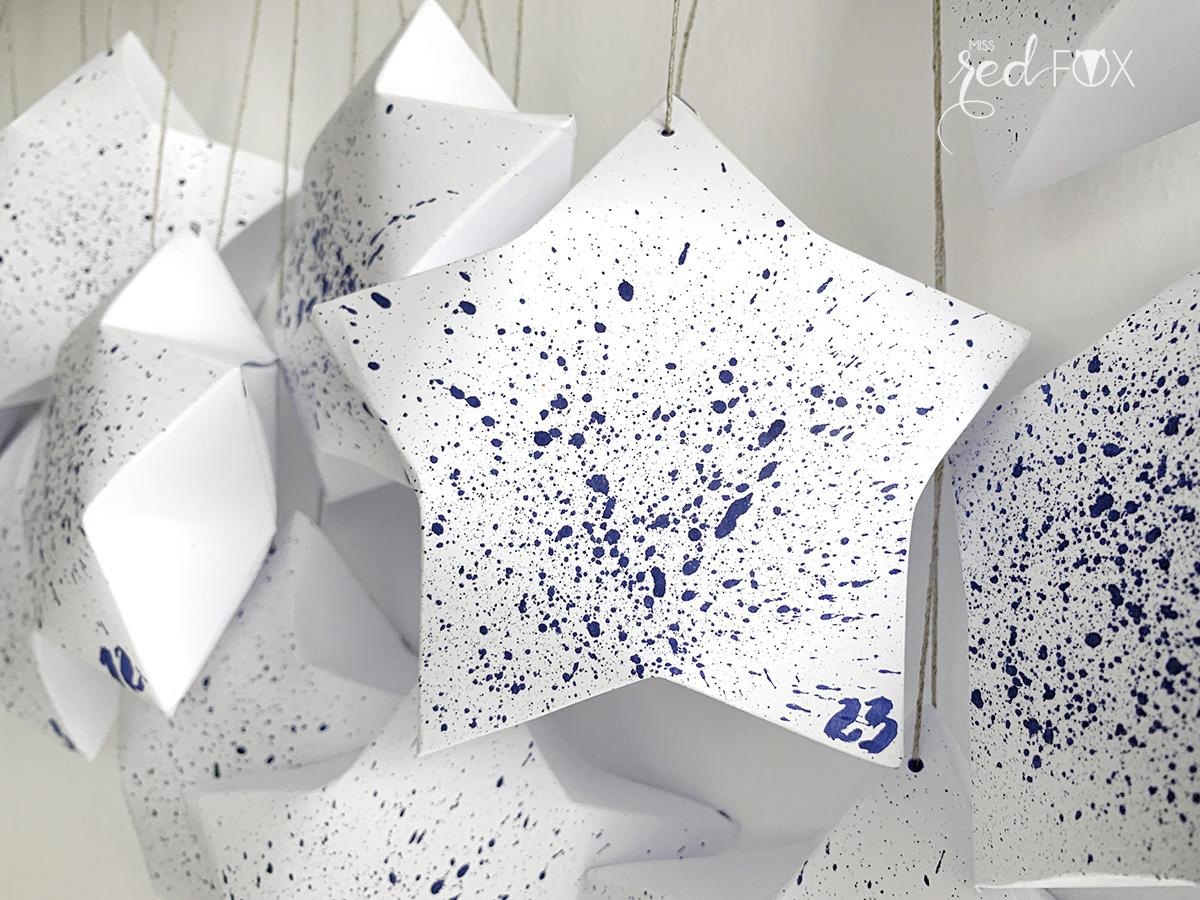 missredfox - Adventskalender 3D Sterne - 06