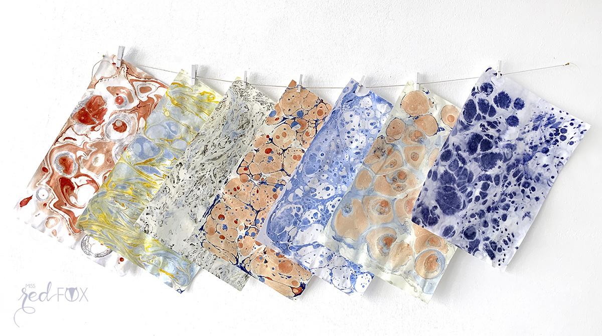 missredfox - Papier marmorieren - Indigo Craftroom Kit - 01