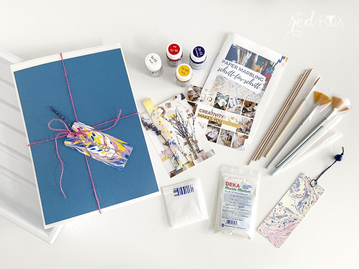 missredfox - Papier marmorieren - Indigo Craftroom Kit - 03