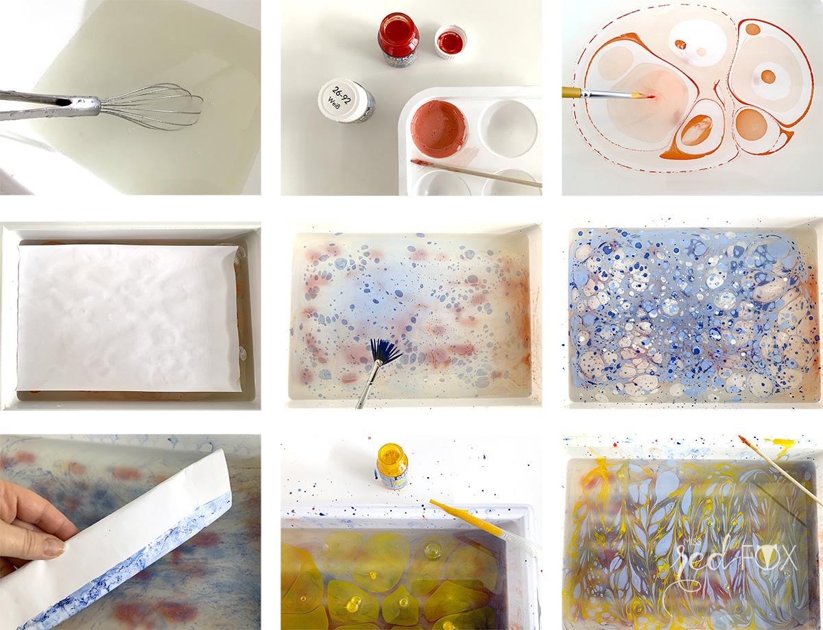 missredfox - Papier marmorieren - Indigo Craftroom Kit - 04