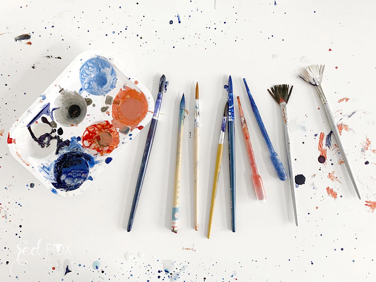 missredfox - Papier marmorieren - Indigo Craftroom Kit - 09