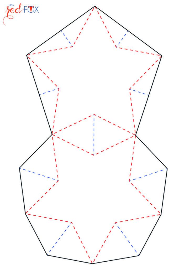 missredfox - Vorlage 3D Stern