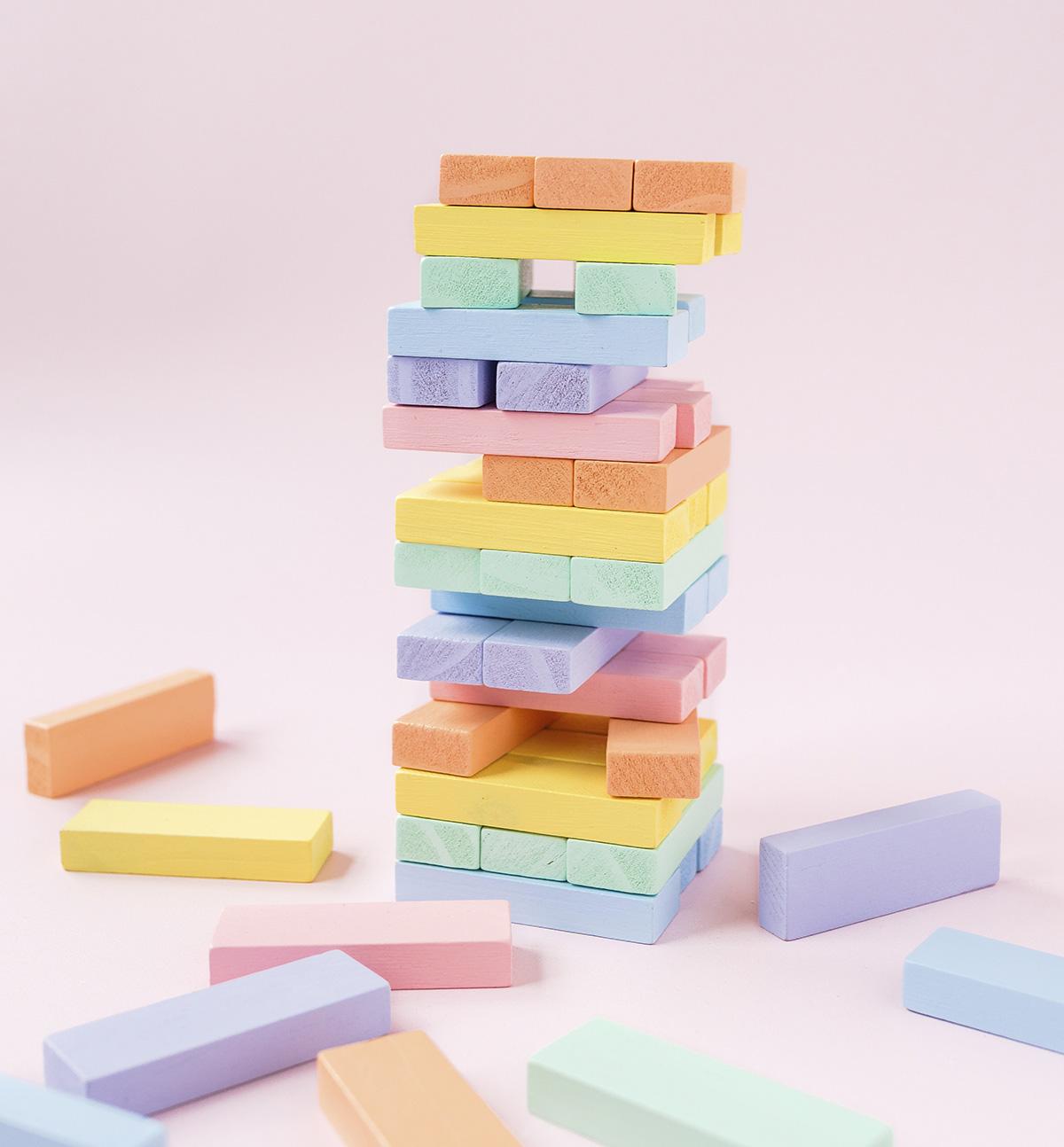 missredfox - 12giftswithlovegoesxmas - 14 - Kathy Loves - Wackelturm aus Holz DIY Kinderspielzeug - Bauklötze selber machen 2