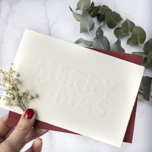 missredfox - 12giftswithlovegoesxmas 16 - abc.doro.t - Letterpress Weihnachtskarte