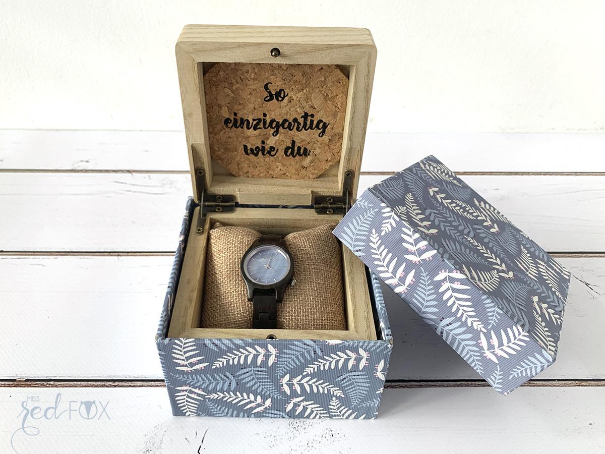 missredfox - Holzkern - Big Sur Uhr - DIY Geschenkbox Schachtel - 01