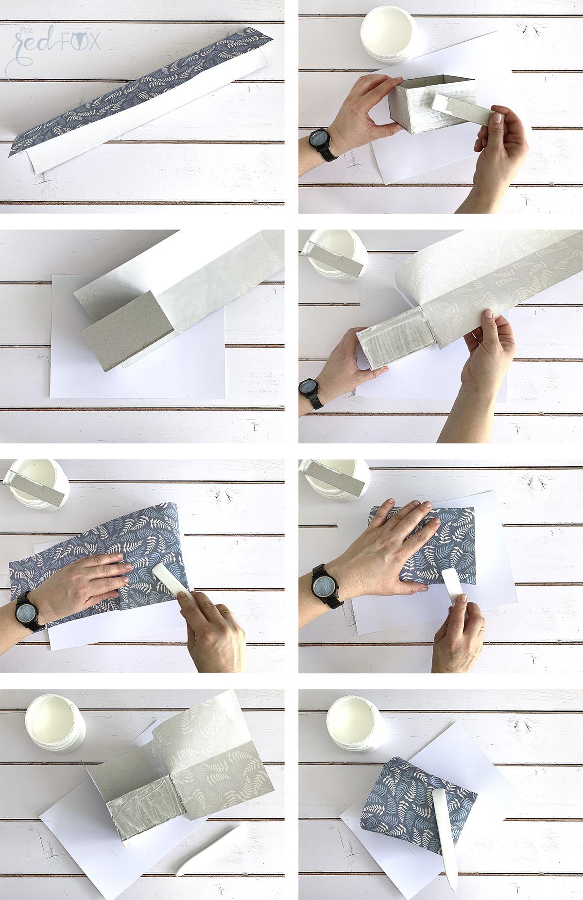 missredfox - Holzkern - Big Sur Uhr - DIY Geschenkbox Schachtel - 07