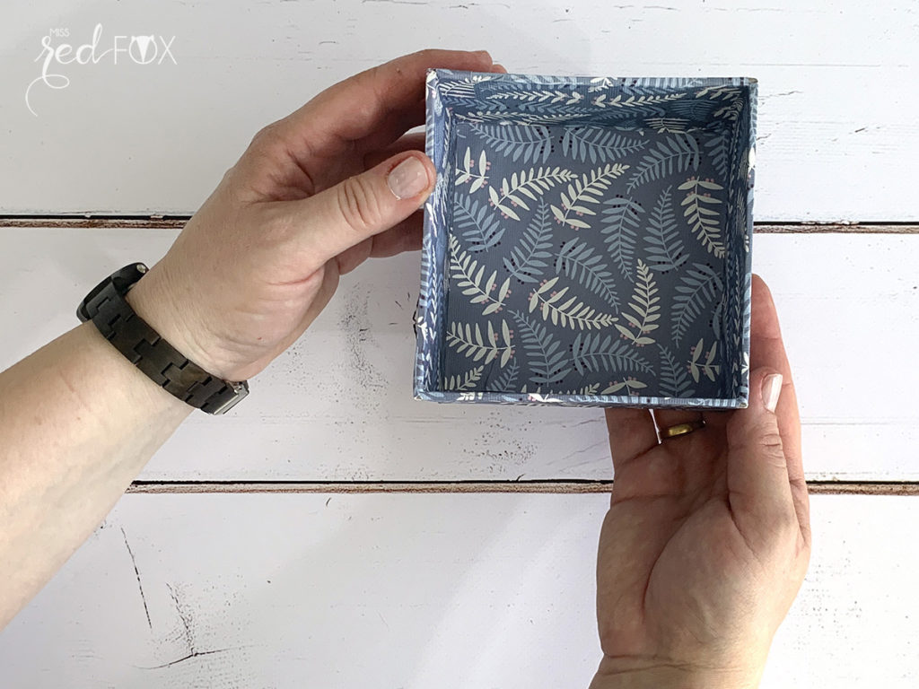 missredfox - Holzkern - Big Sur Uhr - DIY Geschenkbox Schachtel - 11