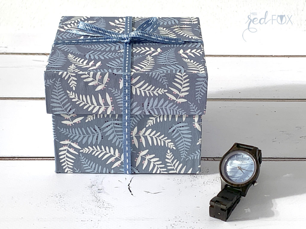 missredfox - Holzkern - Big Sur Uhr - DIY Geschenkbox Schachtel - 15