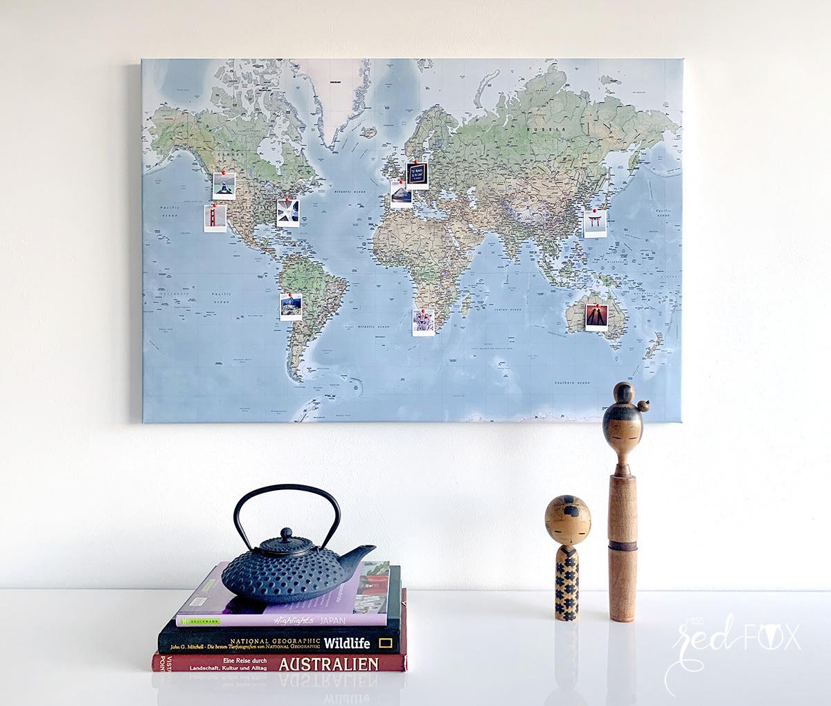 missredfox - MEINFOTO - DIY Pin-Leinwand Weltkarte - 16