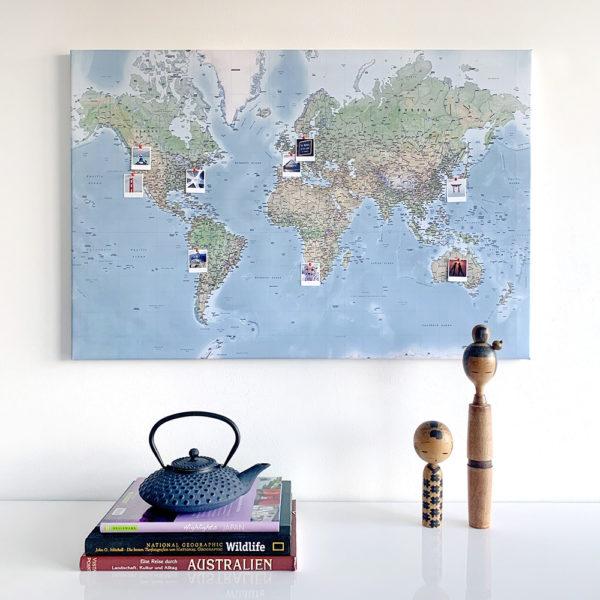 missredfox - MEINFOTO - DIY Pin-Leinwand Weltkarte