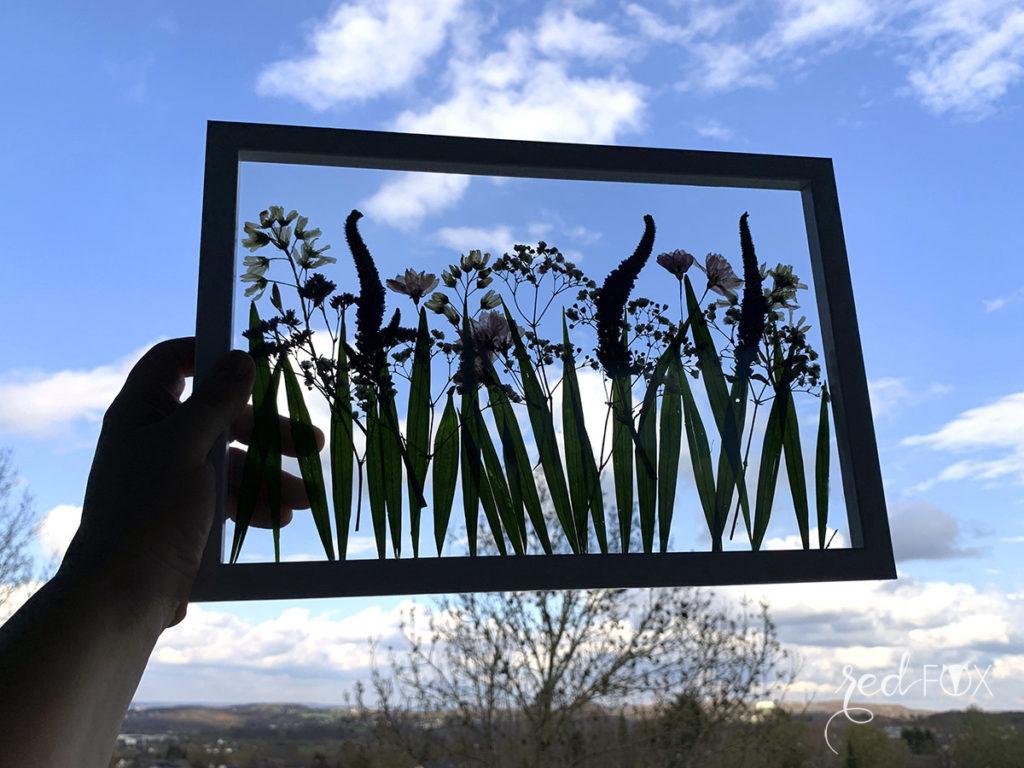 missredfox - 12giftswithlove - Muttertag - Bild mit gepressten Blumen - 07