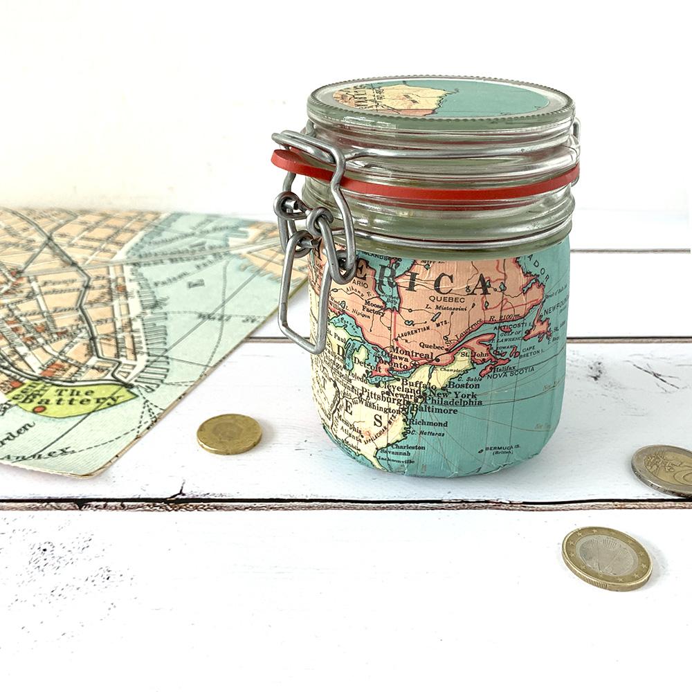 #12giftswithlove – Geschenk im Glas – Reise-Spardose