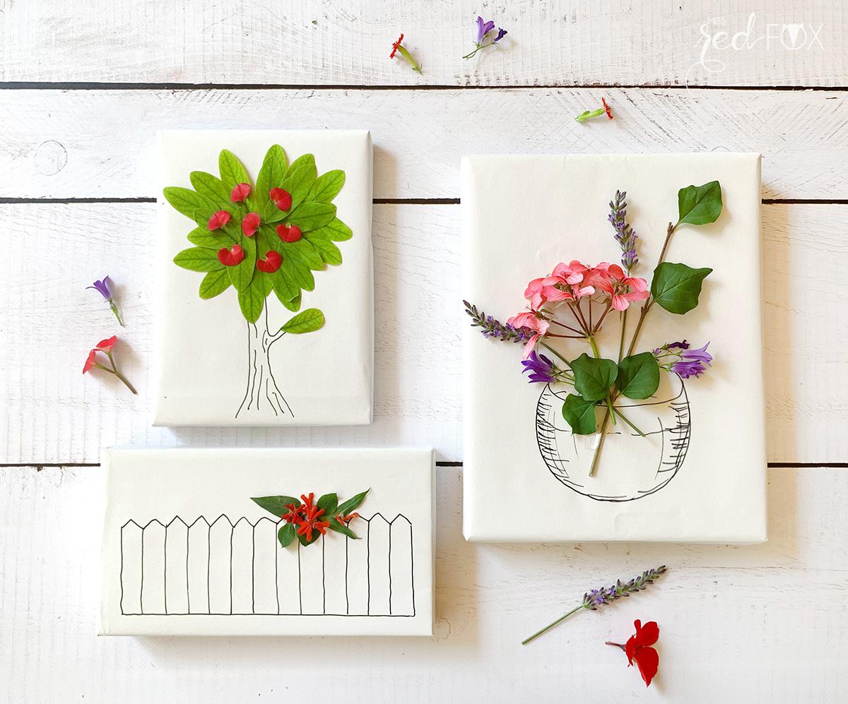 missredfox - 12giftswithlove - Blumen - Geschenkverpackung 1