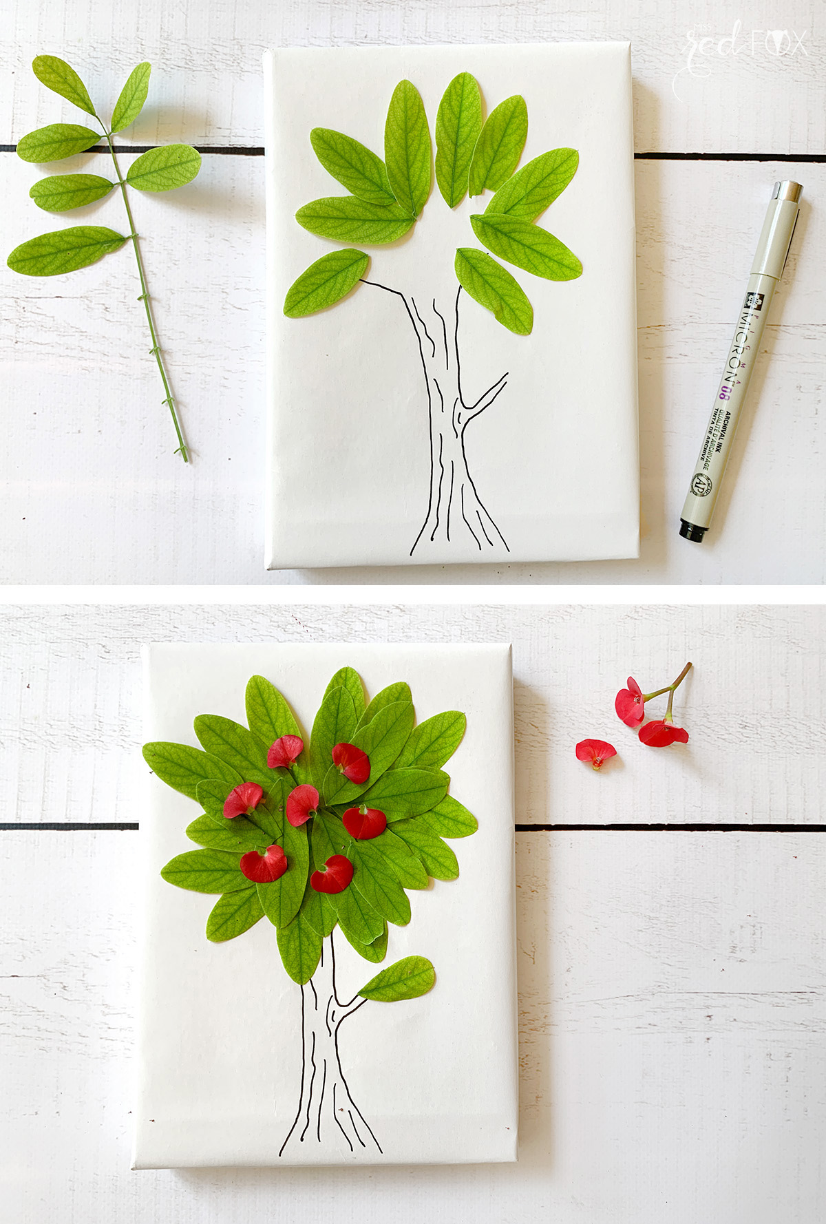 missredfox - 12giftswithlove - Blumen - Geschenkverpackung 5