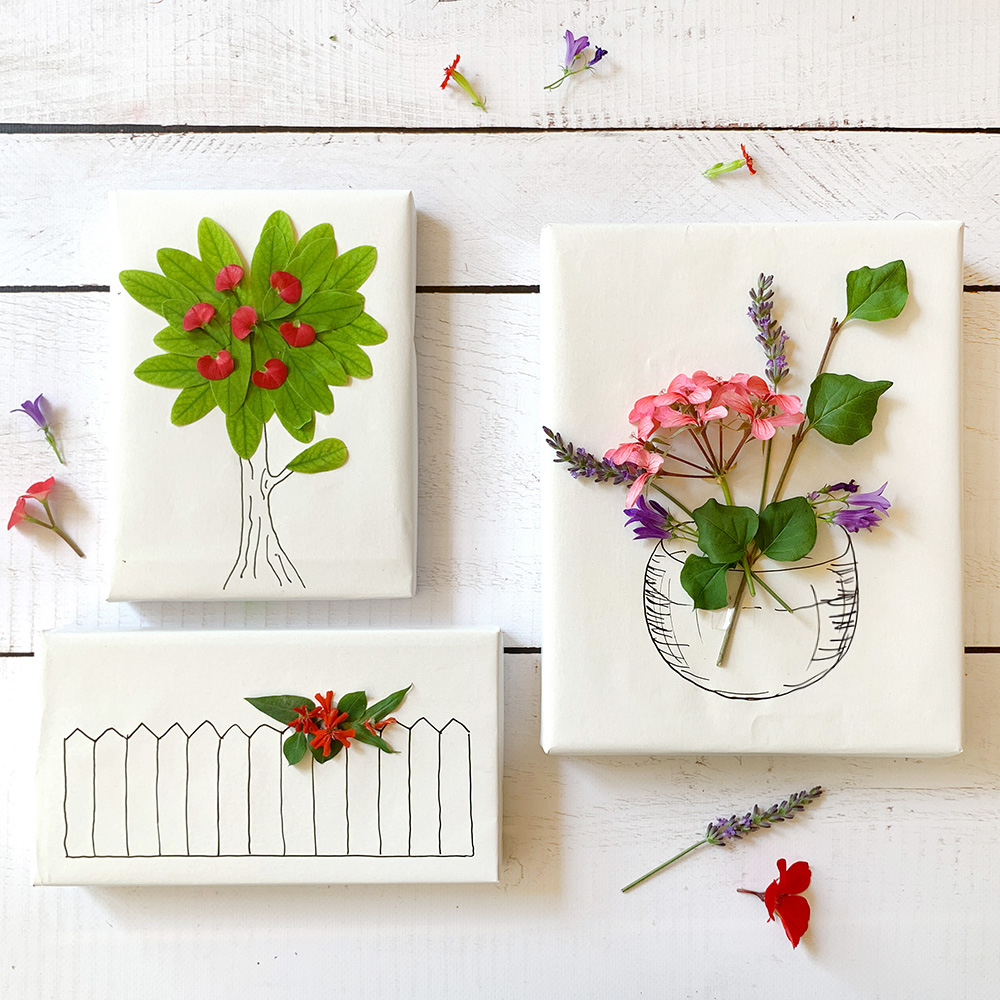 #12giftswithlove – Geschenkverpackung mit Blumen